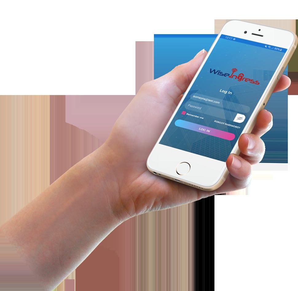 WiseIngress-app-in--hand-